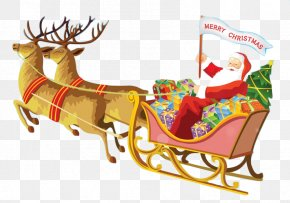 Santa Claus And Reindeer - Santa Claus's Reindeer Santa Claus's Reindeer Rudolph PNG