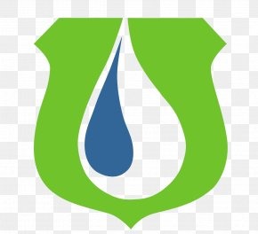 Water Droplets Green Leaf Logo Design - Logo Brand Green Blue PNG