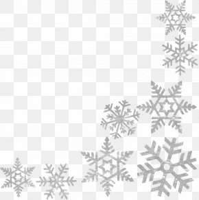 Snowflakes Border Frame Image - Wells Branch Community Library Central Library Snowflake Clip Art PNG