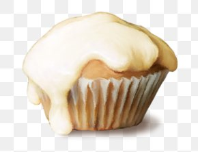 Buttercream Muffin Dessert Fashion Birthday PNG