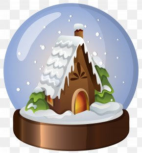 Christmas House - Snow Globe PNG