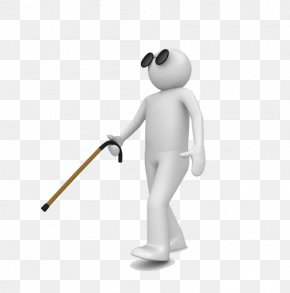 A Man Walking With A Blind Stick - Walking Stick Royalty-free Stock Illustration Clip Art PNG