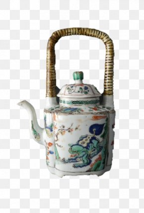 Chinese Antique - Teapot Porcelain Satsuma Ware Chinese Ceramics PNG