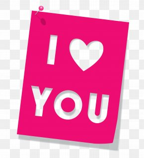 Pink I Love You Clipart Picture - Love Icon Computer File PNG