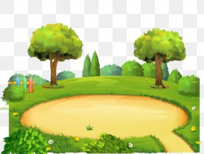 Amusement Park Vector Background - Park Playground Cartoon PNG