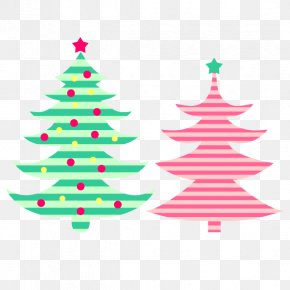 Simple Color Christmas Tree - Santa Claus Christmas Tree Christmas Ornament PNG