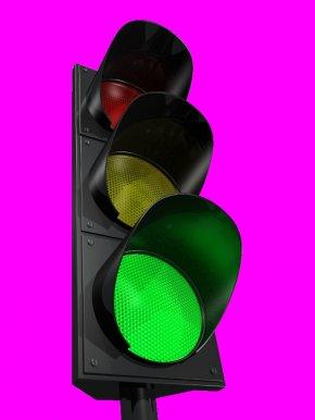 Traffic Light - Smart Traffic Light Clip Art Green PNG