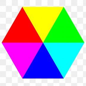 Hexagon - Hexagon Color Triangle Shape Clip Art PNG