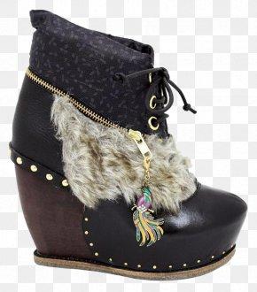 Poetic Charm - High-heeled Shoe Footwear Snow Boot Suede PNG