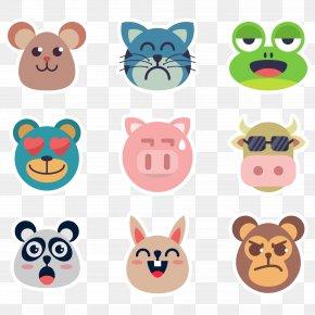 Vector Animal Face Sticker - Sticker Clip Art PNG