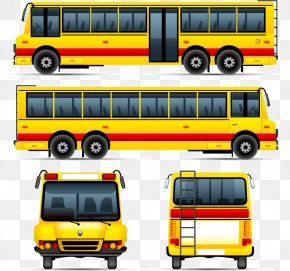 Hand-drawn Cartoon Yellow Bus - School Bus Drawing Stock Photography PNG