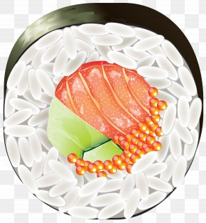 Sushi Peace Clipart Image - Sushi Japanese Cuisine Clip Art PNG