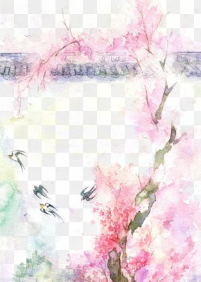 Antiquity Beautiful Watercolor Illustration - Watercolor Painting Drawing PNG