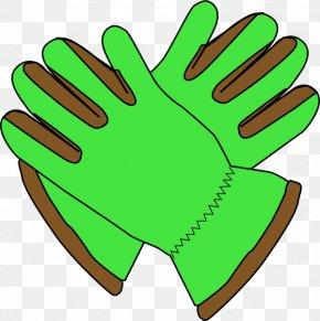 Green Garden Cliparts - Glove Garden Clip Art PNG