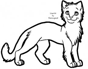 Cat Line Art - Cat Kitten Line Art Clip Art PNG