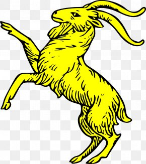 Goat Vector - Goat Coat Of Arms Crest Heraldry Alpine Ibex PNG