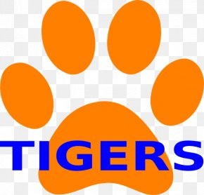 Tiger Paw Print - Dog Tiger Lion Paw Clip Art PNG