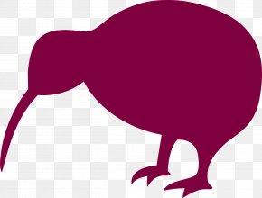 Kiwi - New Zealand Bird Silhouette Clip Art PNG