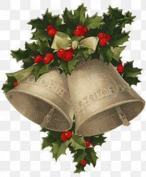 Vintage Card - Santa Claus Christmas Jingle Bell Clip Art PNG