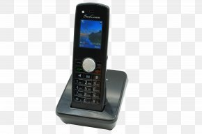 Telephone Handset - Feature Phone Cordless Telephone Clamshell Design Wireless PNG