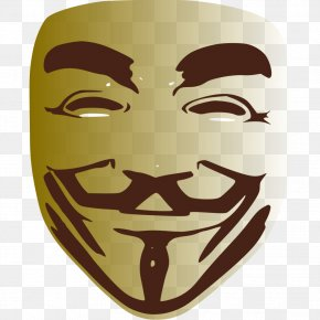 Cyber - Anonymous Guy Fawkes Mask Clip Art PNG