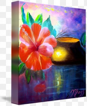 Painting - Acrylic Paint Modern Art Watercolor Painting Still Life PNG