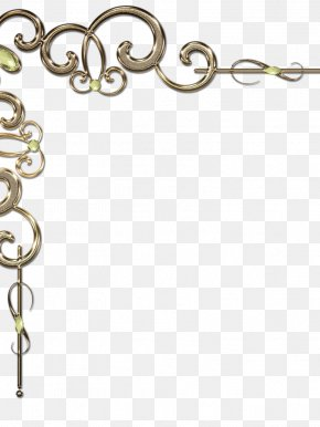 Gold - Clip Art Borders And Frames Decorative Borders Gold Decorative Arts PNG