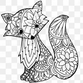 Flamingo And Pineapple - Line Art Blanket Drawing Cartoon Clip Art PNG