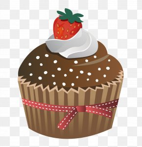 Hand Painted Strawberry Cake - Cupcake Muffin Chocolate Cake Strawberry Cream Cake PNG