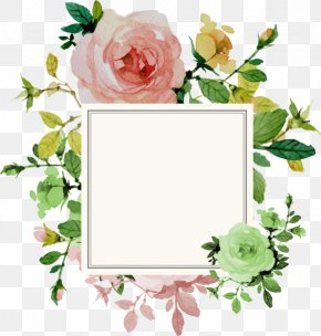 Flower Border - Wedding Invitation Flower Rose PNG