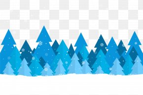 Blue Forest Vector Material - Forest Tree PNG