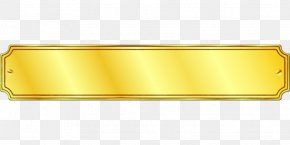 Rectangle Product Design Yellow Material Metal PNG