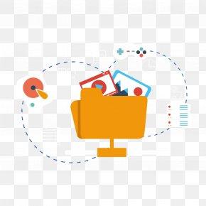 Vector Folder And Dotted Line - Web Hosting Service Internet PNG
