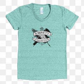 T-shirt - T-shirt Hoodie Sleeve Crew Neck Sweater PNG