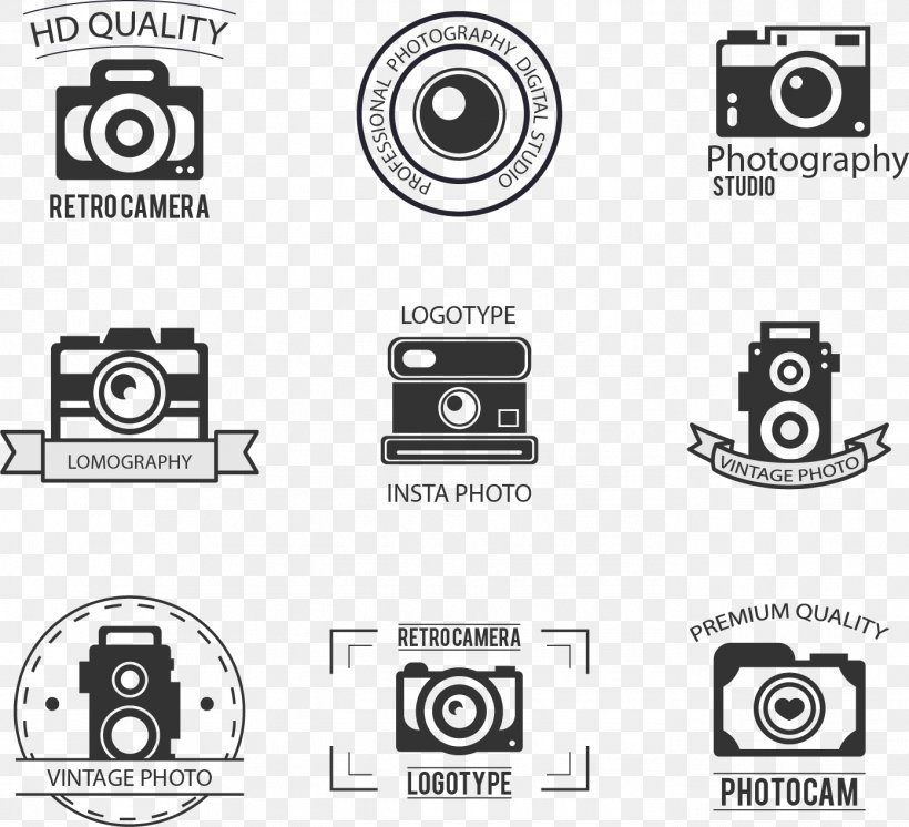 Camera Adobe Illustrator Icon, PNG, 1392x1267px, Camera, Black And White, Brand, Icon Design, Logo Download Free