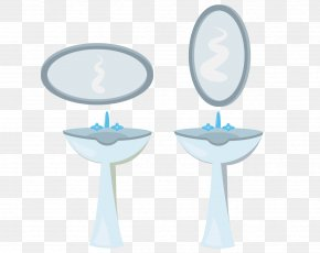 Hand-painted Sink And Mirror - Sink Mirror PNG