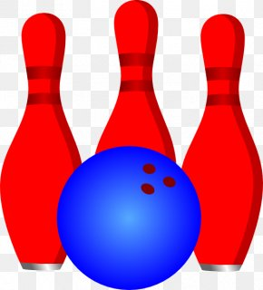 Red Bowling Ball And Bowling Pin Template Download - Bowling Pin Bowling Balls Skittles PNG