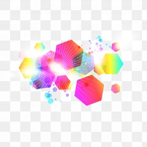 Color Hexagon Combination Background Vector PNG