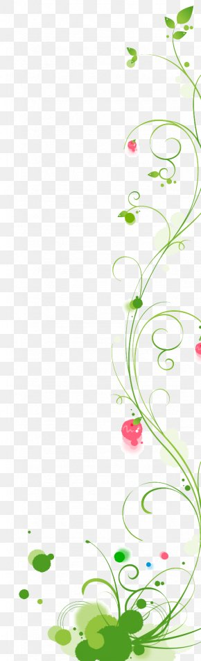 Green Vine - Euclidean Vector Leaf Flower PNG
