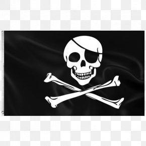 Flag - Jolly Roger Flag Piracy Skull And Crossbones PNG
