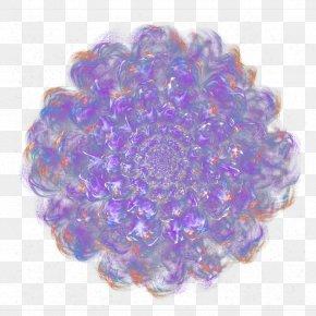 Dream Purple Flower Top View - Purple Flower Designer PNG