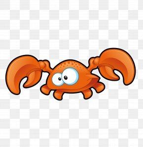 Cute Little Crab Vector - Crab Cartoon PNG