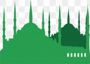 Green Islamic Church - Turkey Islam Mosque Illustration PNG
