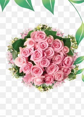 Romantic Pink Rose Ball - Flower Bouquet Rose Flower Delivery Floristry PNG
