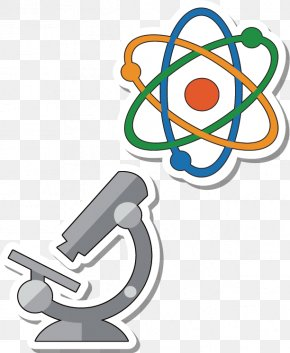 Molecular Structure Under The Microscope - Euclidean Vector Atom Chemical Element Icon PNG