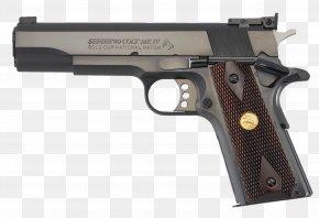 Walnut Gift - .45 ACP Colt's Manufacturing Company M1911 Pistol Automatic Colt Pistol Semi-automatic Pistol PNG