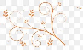 Vines Swirl - Floral Design Clip Art PNG