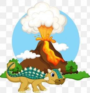 Volcano Dinosaur - Volcano Mountain Lava Magma Clip Art PNG
