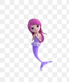 A Purple Mermaid - Mermaid PNG