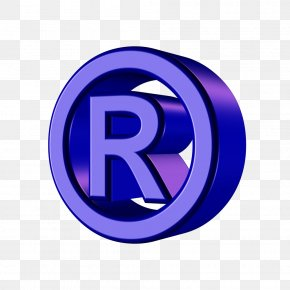 Three-dimensional Image Circle Of The Letter R - Registered Trademark Symbol PNG